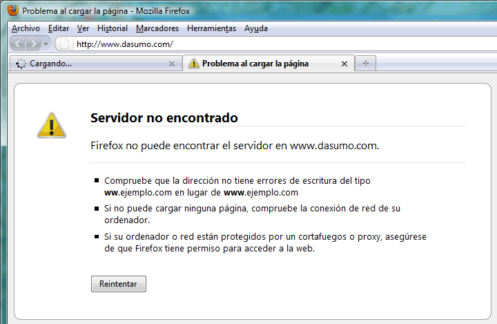 Firefox Servidor No Encontrado