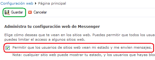 messenger en mi web